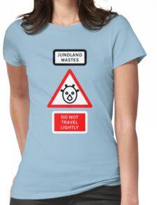 Jundland Wastes Road Sign Womens Fitted T-Shirt