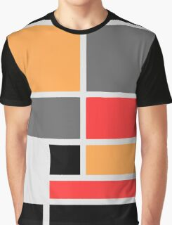 Mondrian style design orange red black gray Graphic T-Shirt