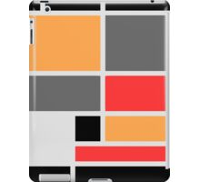 Mondrian style design orange red black gray iPad Case/Skin