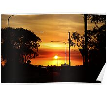 Sunset in Coolum, Queensland Poster