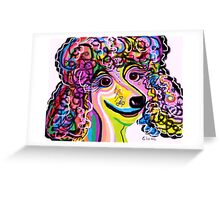 Picture Perfect Poodle Greeting Card