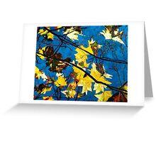 Golden Leaves II Greeting Card