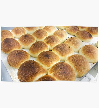 Lot of bread rolls Poster