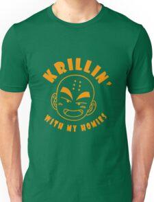 Krillin With My Homies funny nerd geek geeky Unisex T-Shirt