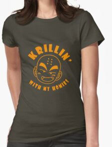 Krillin With My Homies funny nerd geek geeky Womens Fitted T-Shirt