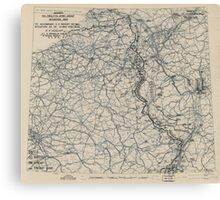 February 1 1945 World War II HQ Twelfth Army Group situation map Canvas Print