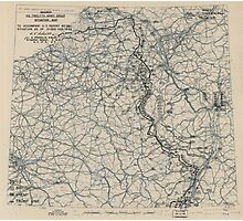 February 1 1945 World War II HQ Twelfth Army Group situation map Photographic Print