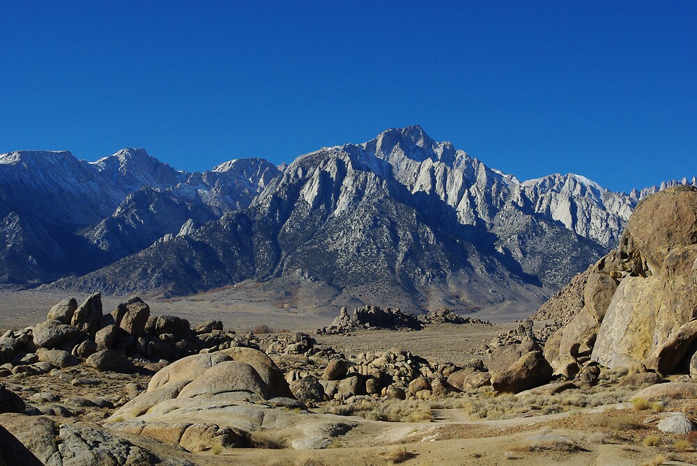 Alabama Hills and Sierra Nevada by Claudio Del Luongo