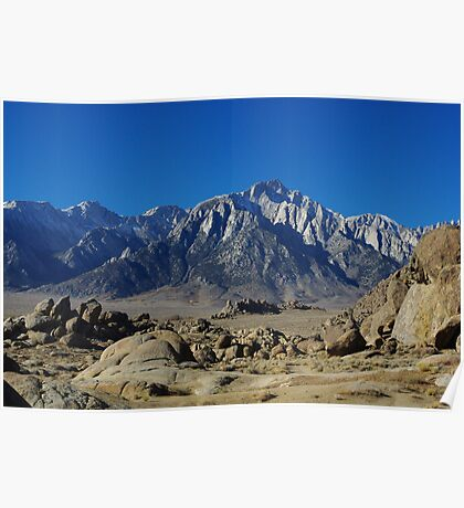 Alabama Hills and Sierra Nevada Poster