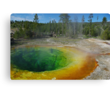Morning Glory Pool, Yellowstone Canvas Print