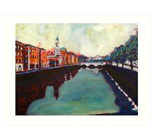 Liffey, Arran Quay and Ushers Quay - Dublin Art Print