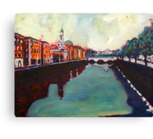 Liffey, Arran Quay and Ushers Quay - Dublin Canvas Print
