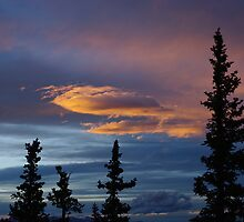 Evening Clouds, Rocky Mountains, Colorado by Claudio Del Luongo