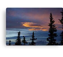 Evening Clouds, Rocky Mountains, Colorado Canvas Print