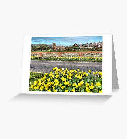 Lytham Coastal Road. Greeting Card