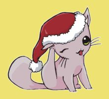 Myu the Candyfloss Cat... at Christmas! One Piece - Short Sleeve