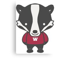 Badger Mascot Chibi Cartoon Canvas Print