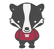 Badger Mascot Chibi Cartoon Photographic Print