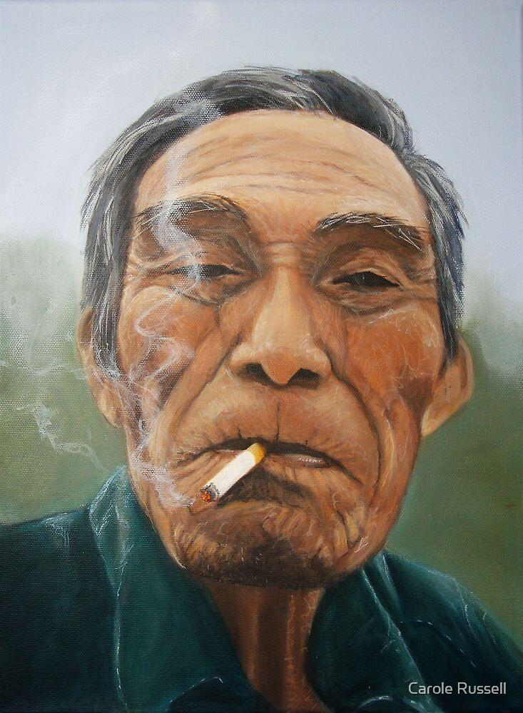 Male smoking by Carole Russell
