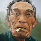 Male smoking by Carole Russell