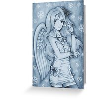 Winged Snow Lolita Greeting Card