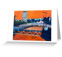 Liffey Bridges, Dublin Greeting Card
