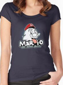 Mario : The Super Ghost Women's Fitted Scoop T-Shirt