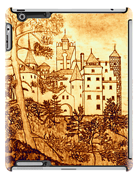 Dracula's Castle iPad case by Dennis Melling