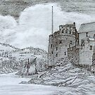 Dartmouth Castle iPad case by Dennis Melling