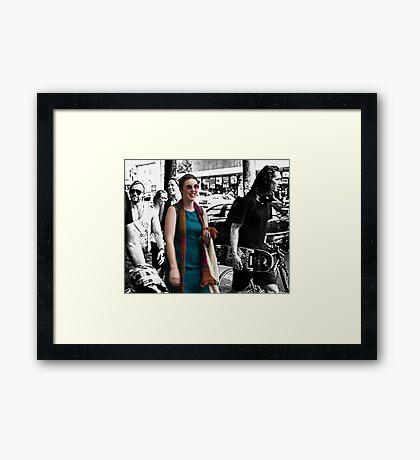 happy Melbourne Framed Print