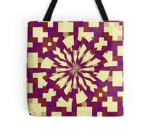Raster kaleidoscope magenta, red  Tote Bag