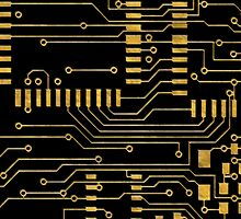 Computer Circuit Board  by CroDesign