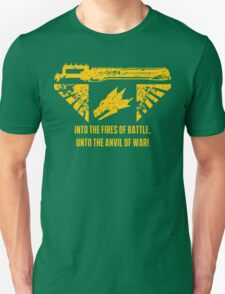 Into the fires of battle Unisex T-Shirt