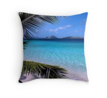 Soloman Beach Morning - St. John Throw Pillow