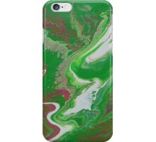 green fluid abstract iPhone Case/Skin