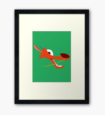 Mushu Framed Print