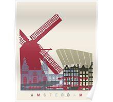 Amsterdam skyline poster Poster