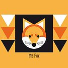 Mr Fox Geometric Shapes by Victoria Ellis