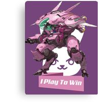 I Play To Win Canvas Print