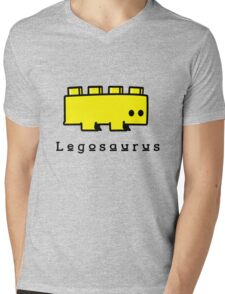 Legosaurus funny nerd geek geeky Mens V-Neck T-Shirt