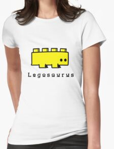 Legosaurus funny nerd geek geeky Womens Fitted T-Shirt