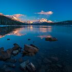 Maligne Lake Sunset by George Wheelhouse