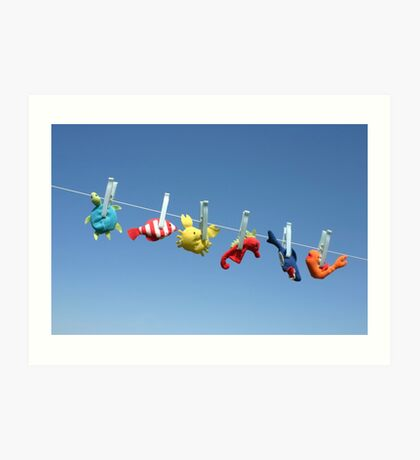 Toy sea animals Art Print