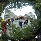 Reflections in a Christmas tree ball by Arie Koene