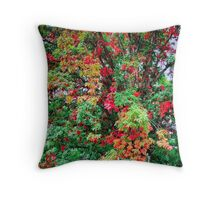 Leaves, On The Big Tree Throw Pillow