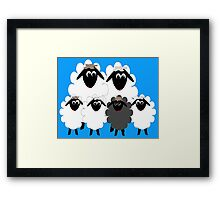 Black Sheep in the Family! Framed Print