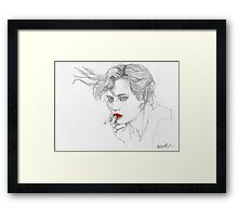 Girl with the Cigarette Framed Print