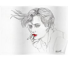Girl with the Cigarette Poster