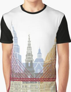 Copenhagen skyline poster Graphic T-Shirt