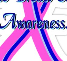 Male Breast Cancer Awareness. Sticker
